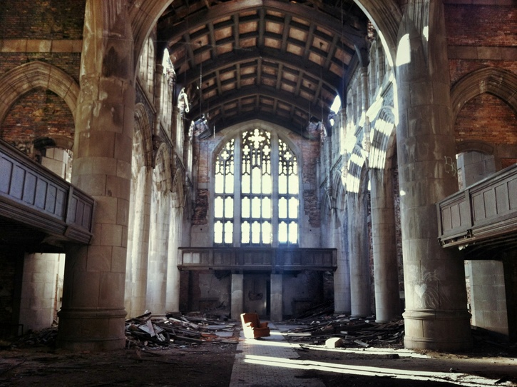 Abandoned United Methodist Church in Gary. Limited Edition Print.