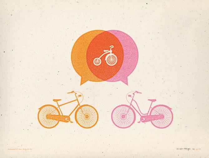 Lottie Loves...: Bicycle Print
