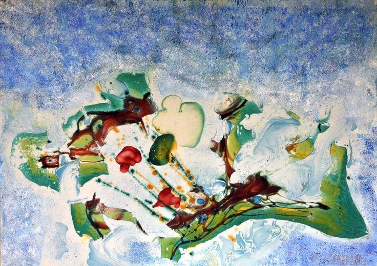 """""""Zaman İçin Bir Resim -a picture for time"""" 140x100 cm tuval üzerine özgün teknik A.Burhan Ersan"""