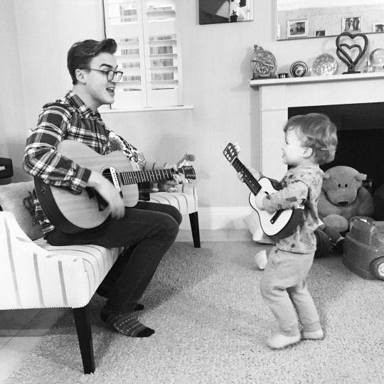 Giovanna Fletcher Band practise with @tomfletcher... Yes, Buzz is a leftie! xxxGi's World