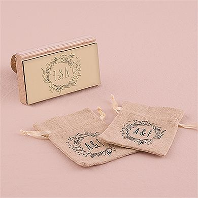 Natural Charm Personalized Rubber Stamp