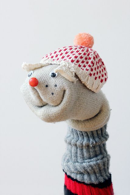 Sock Puppet on Flickr: Annie Larson from All Knitwear, diy sock puppet, sock puppet