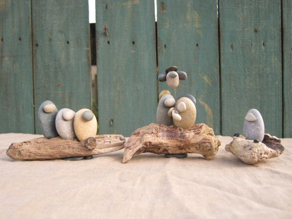 river stone nativity