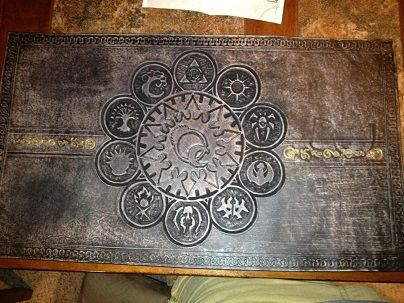 Super cool Magic the Gathering leather playmat