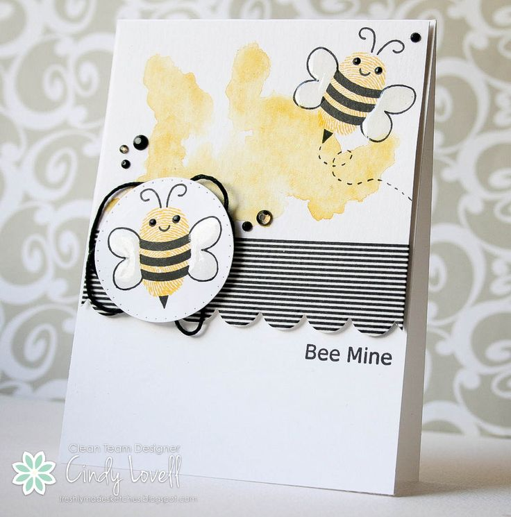 399 best images about CARDSBees – Bee Valentine Cards