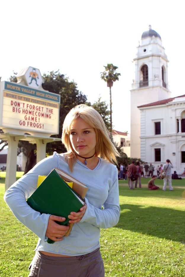 "And this iconic photo of Hilary glancing off into the distance, thinking about Nomad609. | 13 Amazing Rare Photos Of The Cast Of ""A Cinderella Story"""
