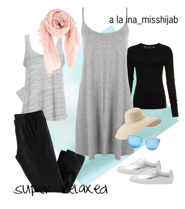 """""""super relaxed"""" by ina-misshijab on Polyvore featuring Project Social T, H&M, Superdry, WearAll, Chan Luu, MANGO, Eric Javits and Quay"""