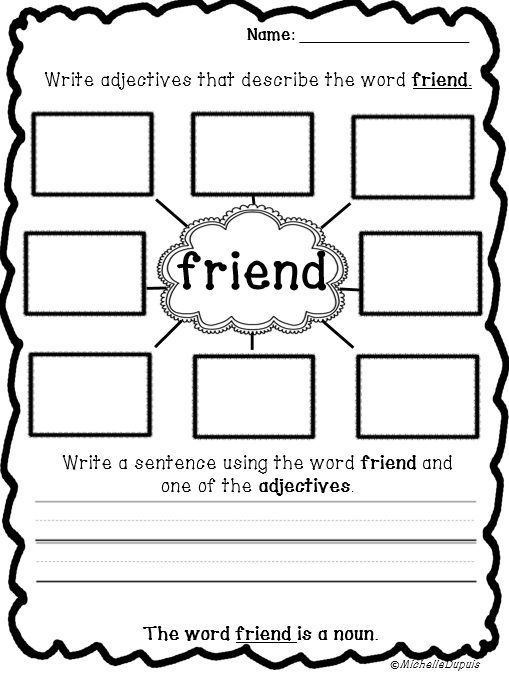 FREEBIE   Get some noun and adjective practice. Print and go!