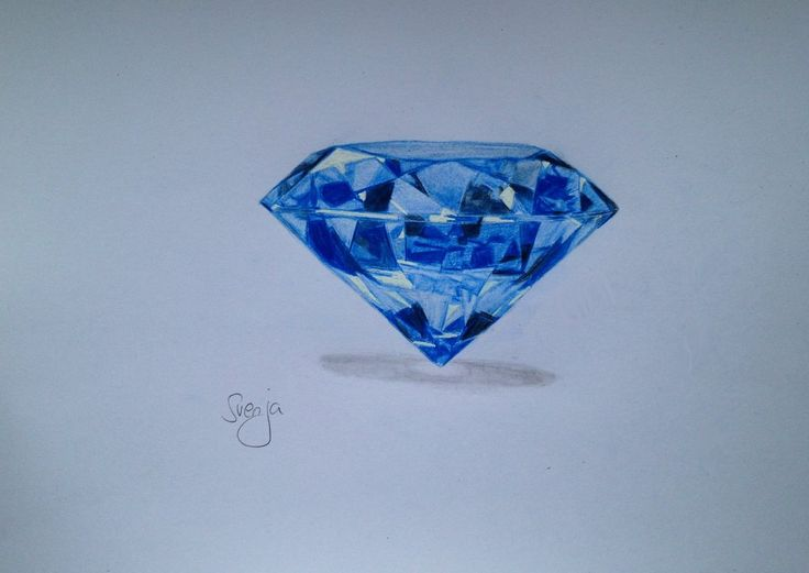 Gallery For > Blue Diamonds Drawing | Gracieux tatouages ...