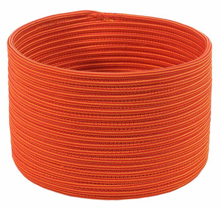 Idée : Fabriquer un cache-pot avec corde cousue en point zig-zag. Modèle vendu chez Unopiù.Panier Cylindrique tressage Panama Ø 23,5 H 23,5