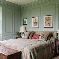 Traditional Panelled Bedroom. That kind of panelling should be used more even nowadays, it's cosy.