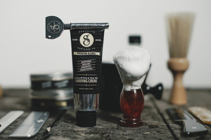 @SuavecitoPremium Shaving Cream. It's naturally scented with Eucalyptus & Tea Tree Oil.  Infused with Aloe Vera and Grapeseed Oil