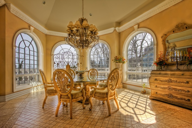 Breakfast Nook at this magnificent estate. See what the rest of the house looks like here http://statenislandlifestyle.com/listings/4-5-bedroom-8-baths-custom-lux-staten-island-new-york/