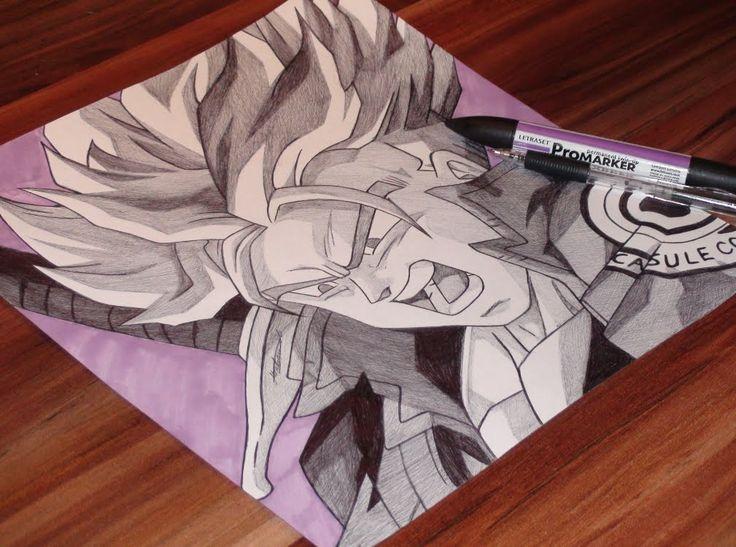 Trunks Ballpoint Pen Drawing - Dragon Ball Z - Freehand Art