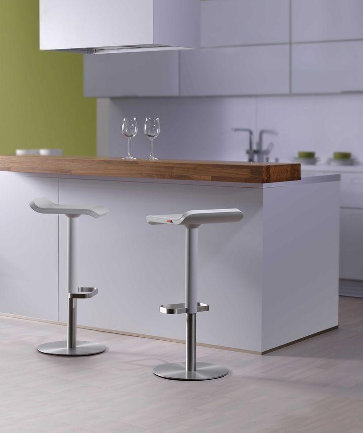 #Barstuhl #weiss Für Küchentresen, #moree, Küche Von #Next125 Mit #