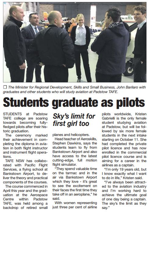 #TAFE #SWSi Students Graduate as Pilots