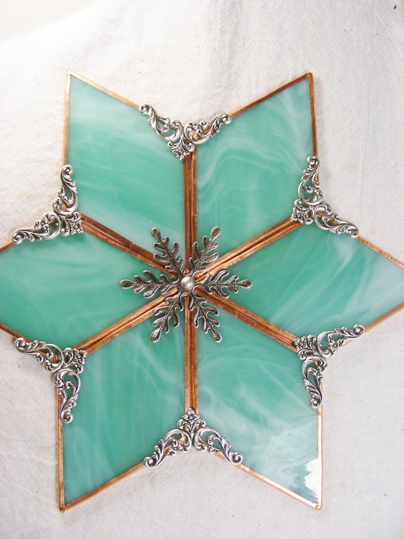 Christmas Stained Glass Ornaments Part - 26: Stained Glass Star
