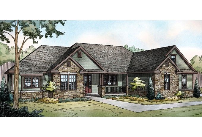 One story craftsman with bonus room 2 569 sq ft i for One story house plans with bonus room