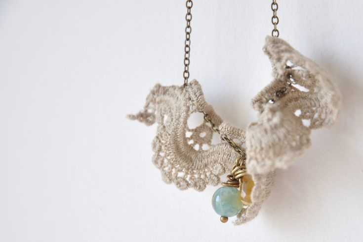 Ruffled lace necklace | Explore // Between the Lines //'s ph… | Flickr - Photo Sharing!