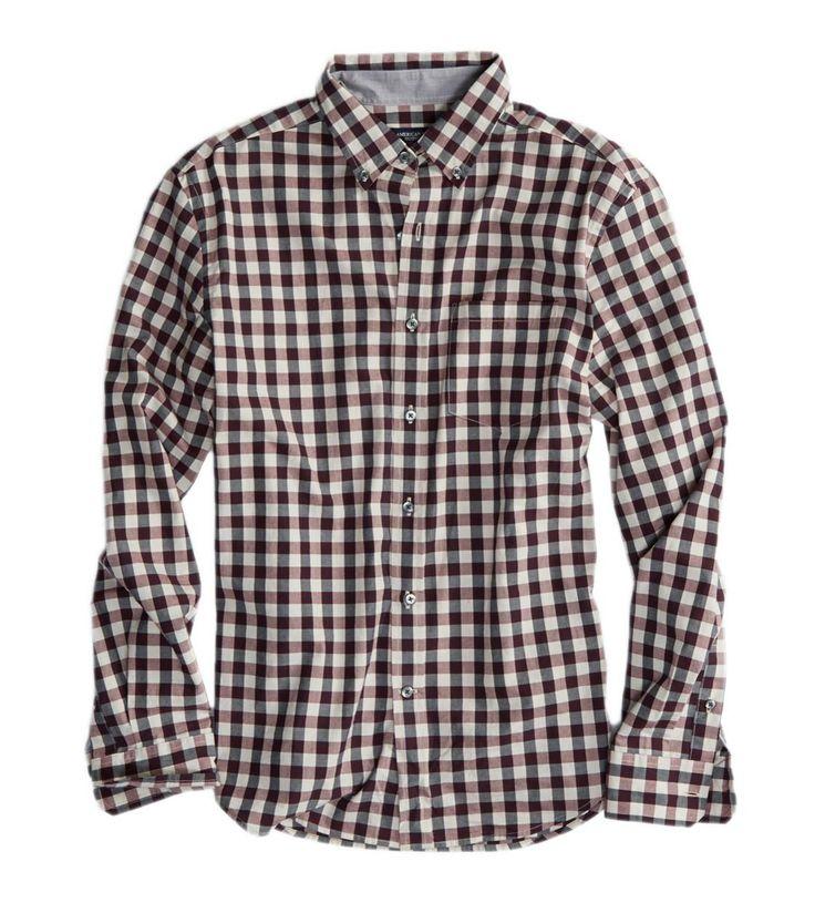 AE Plaid Button Down Shirt $15