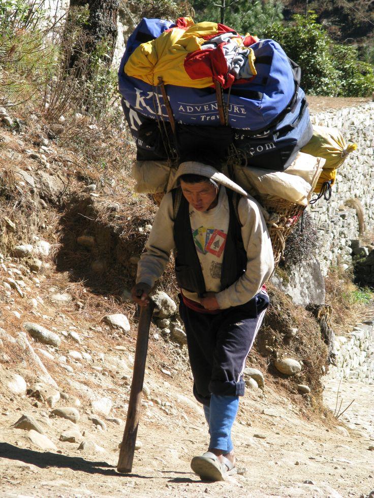Sherpas on the trek to Mount Everest