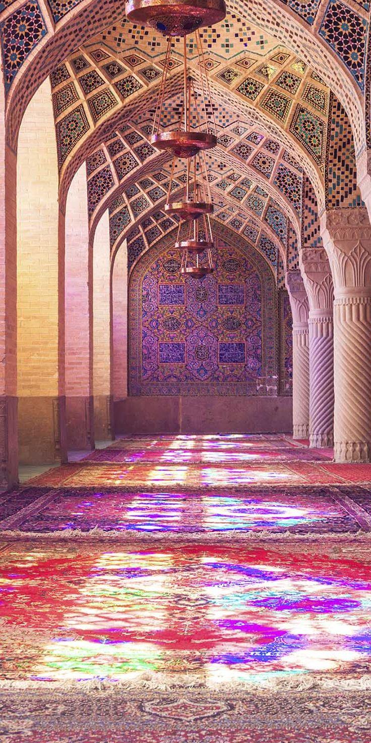 Nasir al Mulk Mosque in Shiraz, Iran. Original Travel.