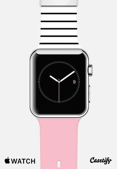 Pink and stripes Apple Watch Band case by Allyson Johnson | Casetify