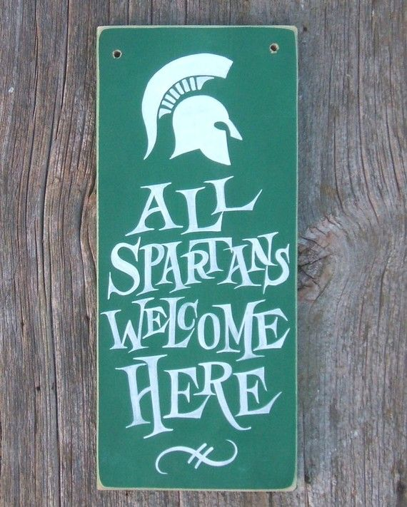 in a nautical house you will find this there also, All Spartans Welcome