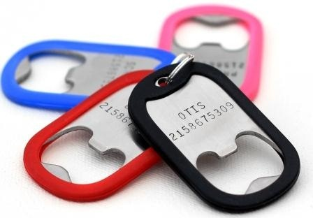 The Pop Tag is a personalized ID tag for Fido unlike any other- it is also a bottle opener!