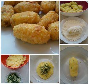 kaşar peynirli patates köftesi