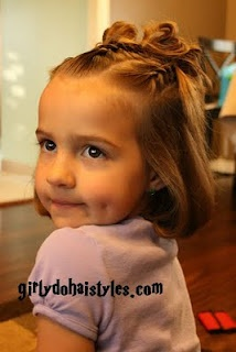 Cute Little Girl Hairstyles - Would love to try this on Liv