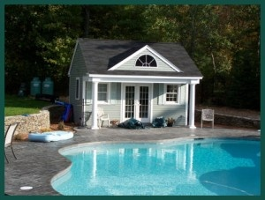 Pool house w/french doors