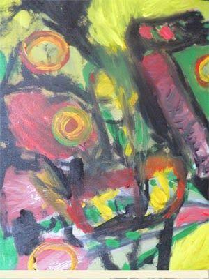 Bila pagi tak kunjung adatang-2, akrilik on kanvas, 50 x  60cm, 2014. ARTI SUGIARTI