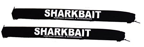 Sharkbaitsurfwax Set of Two 30 Inch Long Aero Roof Rack Pads Black Fade Proof for Surfboard/sup/kayak