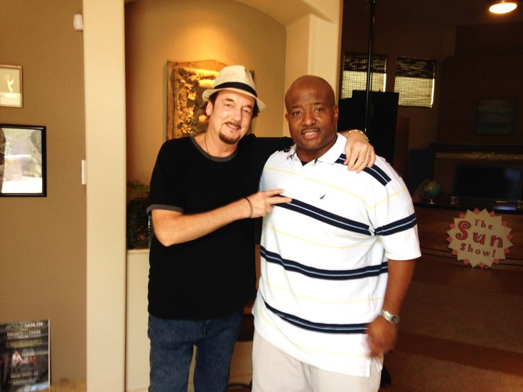 """Music Video director, Chip Miller, with Grammy winning rapper, Marvin """"Young MC"""" at Desert C.A.M. Studios - 2104"""