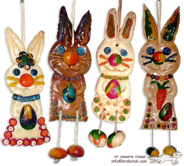 SALT DOUGH Easter Bunnies