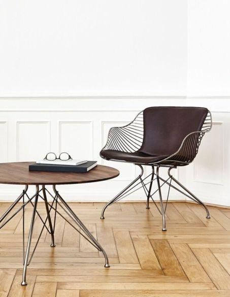 Overgaard & Dyrman - Wire & Wood Coffee Table. Available in Oak or walnut