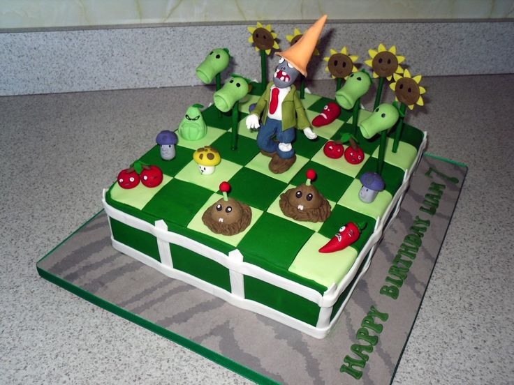 Plants vs Zombie Cake Items | Plants vs Zombies Cake | Cindys Cakes