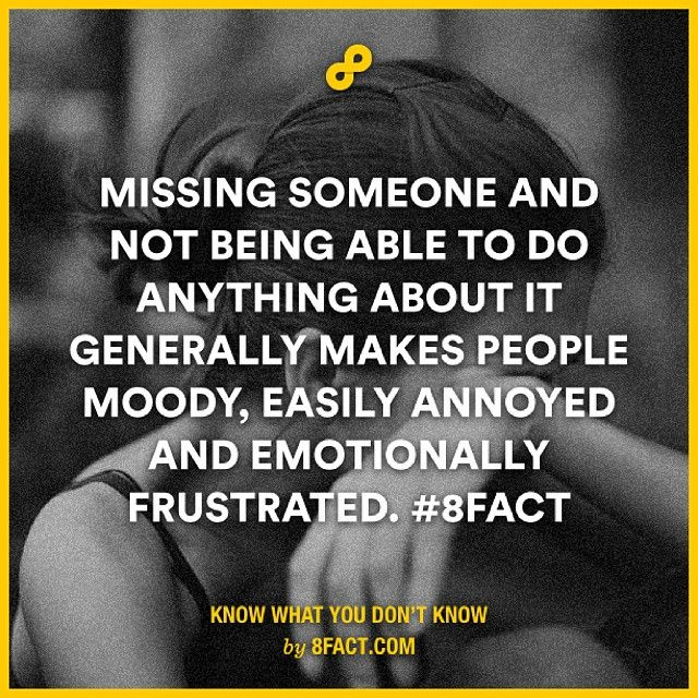 The truth about missing someone