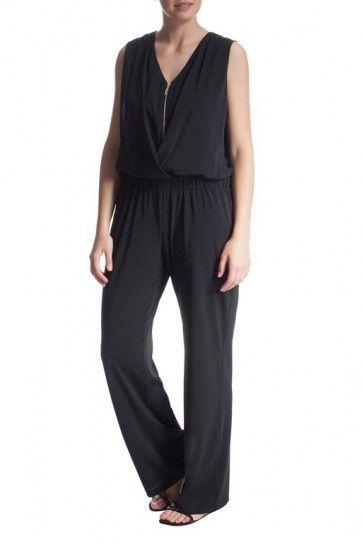 Tuta nera con zip elegante Elena Mirò
