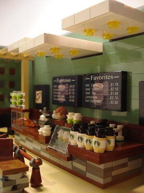 Lego Starbucks cafe