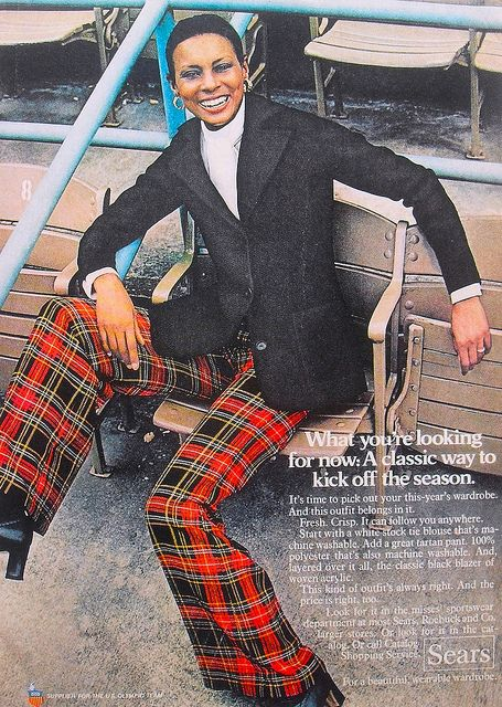 1972 Sears Clothing Fashion Womenswear Advertisement 1970s by Christian Montone, via Flickr (Plaid & bell bottoms, what more would you need)