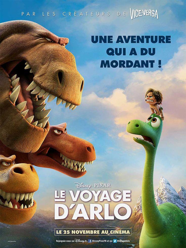 Le Voyage d'Arlo ou The Good Dinosaur film de Peter Sohn avec les voix de Richard Darbois, Olivia Bonamy, Jean-Baptiste Charles. Et les dinosaures..