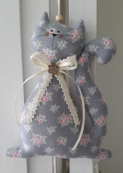 Katze+mit+Herzen/Girlande+im+Landhaus-Stil++von+Feinerlei+auf+DaWanda.com