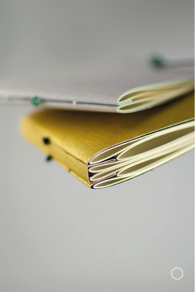 mooi om grote en kleine bladzijden samen in een boek te binden