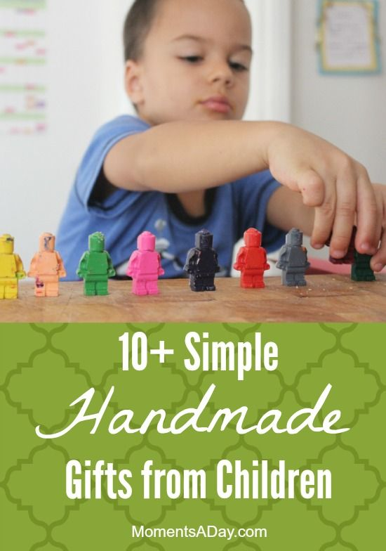 10+ Simple Handmade Gifts from Children - to give to other kids and to give to adults