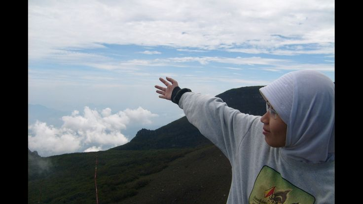 At the top of Mount Gede