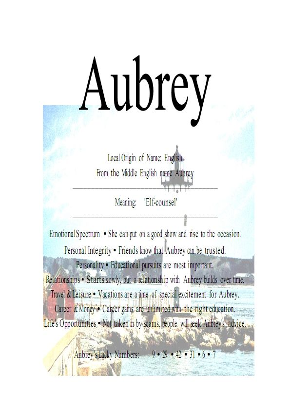 the+name+Aubrey | Name Means Everything.Aubrey » Name Means Everything.