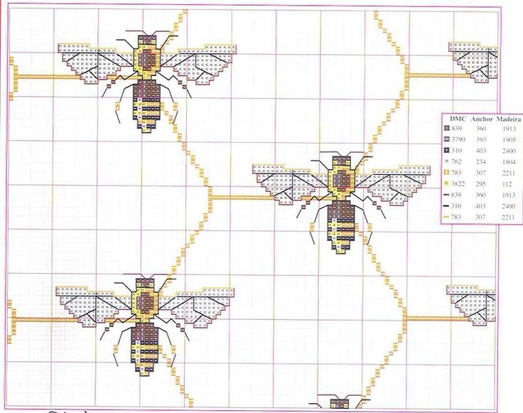honeycombs & bees cross stitch