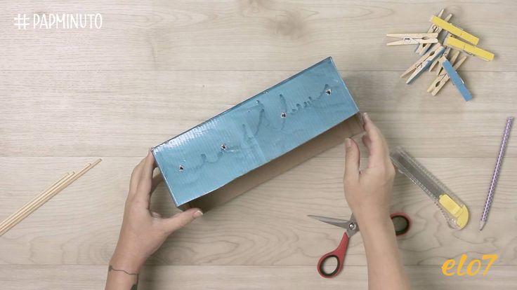 ¿Cómo hacer un mini metegol con una caja de zapatos? #DIYMINUTO
